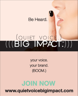 Quiet Voice. Big Impact.